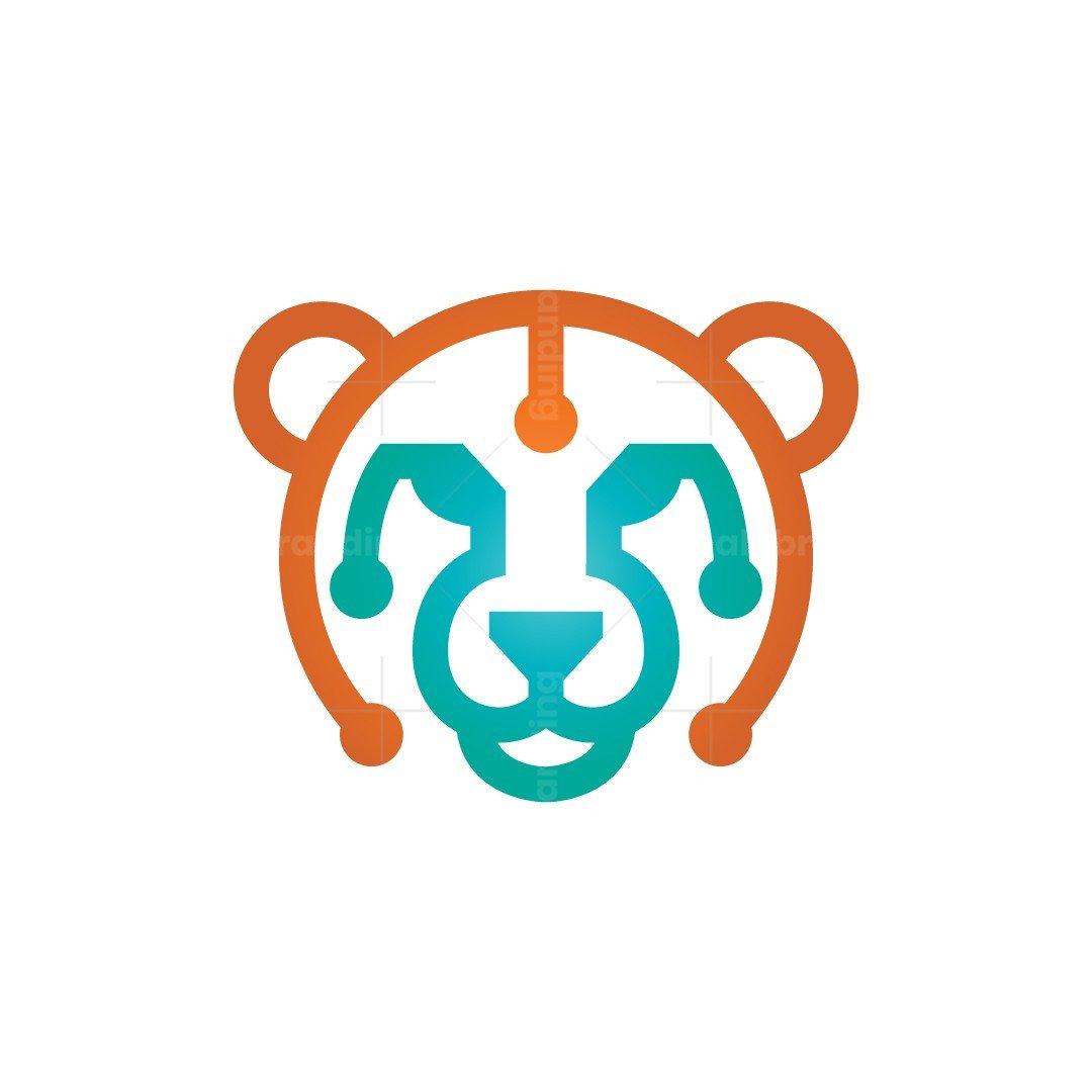Cheetah Head Logo Gepard Logo