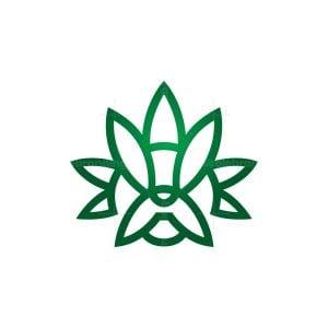 Weed French Bulldog Logo
