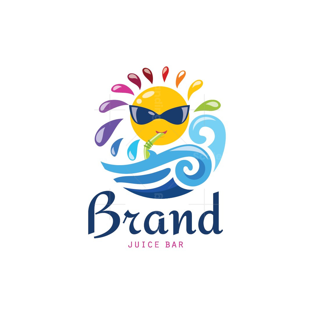 Fresh Summer Juice Character Logo