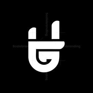 Letter G Rock Metal Band Hand Sign Logo