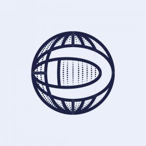 Letter D Globe Logo