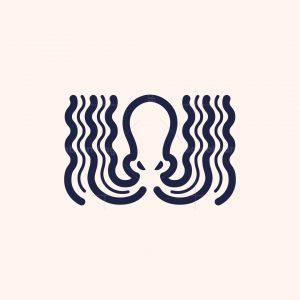 Wavy Octopus Logo