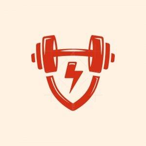 Shield Dumbbell Logo