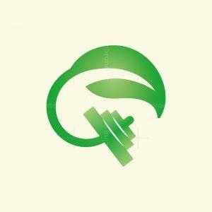 Leaf Dumbbell Logo