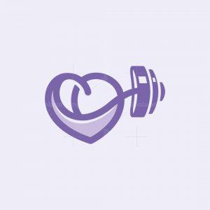 Heart Dumbbell Logo