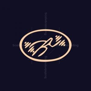 Dumbbell Caveman Logo