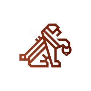 Key Lion Logo Real Estate Lion Logo