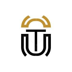 Letter T Scarabaeus Logo Scarabeus Logo