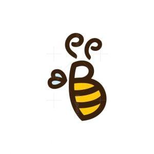 Letter B Bee Logo