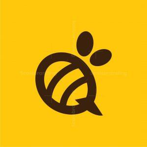 Letter Q Bee Logo
