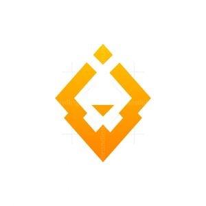 Pencil Lion Abstract Minimalist Logo Design