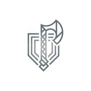 Shield Nordic Axe Logo