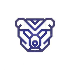 Modern Bear Head Logo Bear Logo