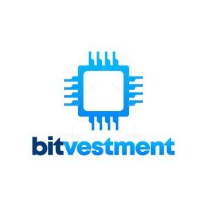 Processor Chip Abstract Logo Design – Bitvestment