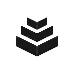Pyramid Abstract Minimalist Logo Design