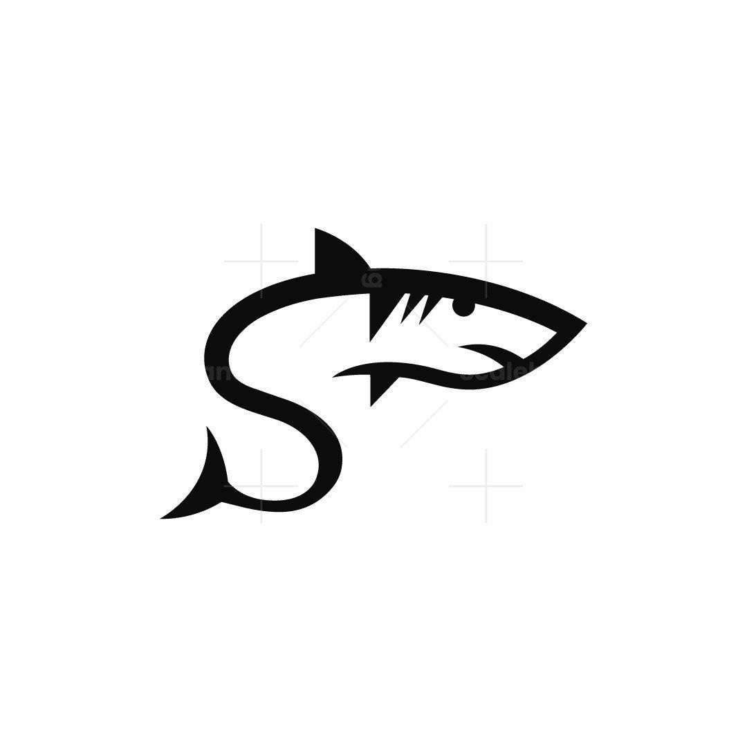 Letter S Shark Logo