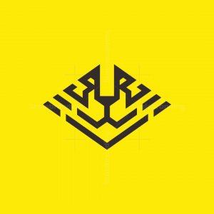 Geometric Tiger Face Logo