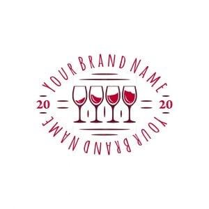Four Glasses Of Wine Logo