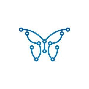 Technology Butterfly Logo Cyber Butterfly Logo