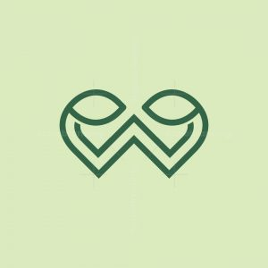 Letter W Leaf Logo