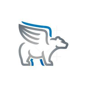 Winged Bear Logo