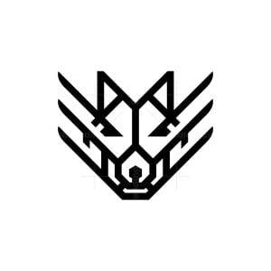 Winged Wolf Logo Alpha Wolf Logo