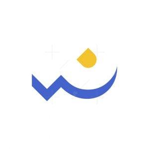 Ocean Wave P Logo