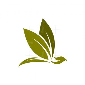 Leaf Phoenix Bird Logo