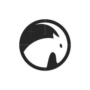 Circle Negative Space Ram Logo
