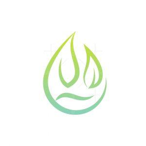 Waterdrop Leaf Care Logo