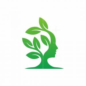 Nature Tree Face Logo
