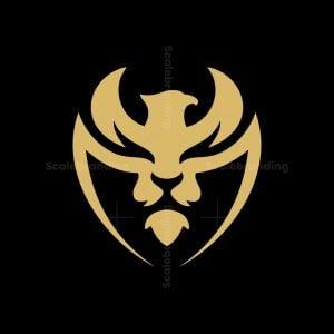 Lion And Phoenix Shield Logo