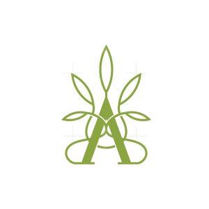 Letter A Cannabis Logo