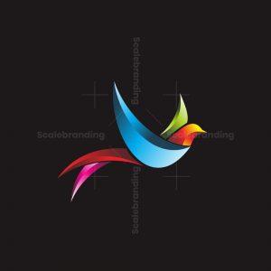 3d Simple Bird Logo