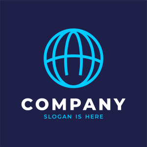 Letter A Globe Logo