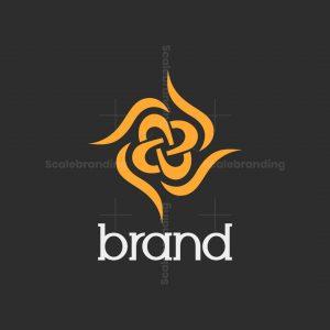 Golden Abstract Flower Logo