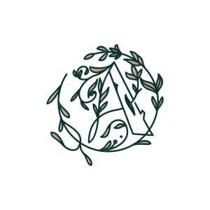 Letter A Nature Logo