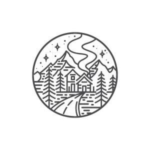 Alps Mountain Logo
