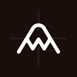 Apex Peak Aw Letter Logo