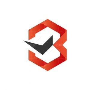 B Check Letter Logo