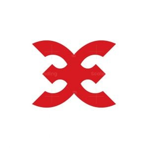 Letter Be Or X Logo