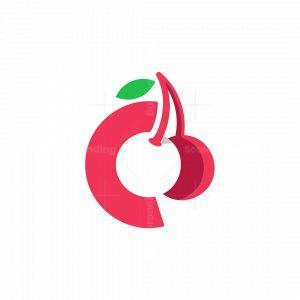 Letter C Cherry Logo