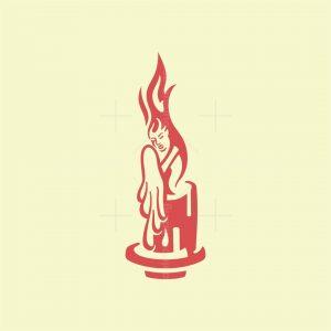 Candle Woman Logo