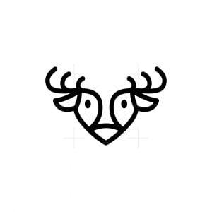 Cute Minimalist Deer Logo