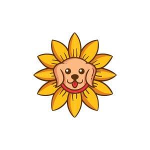 Dog Flower Logo