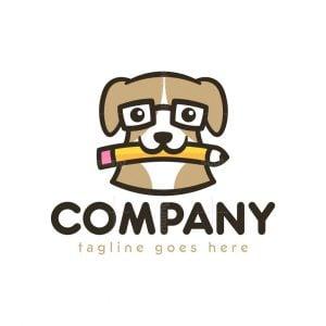 Dog Pencil Logo
