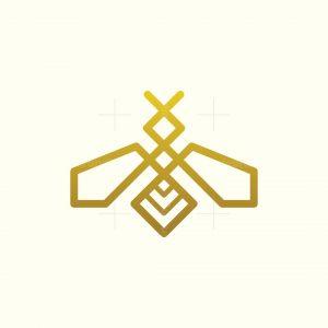 Elegant Bee Monoline Logo