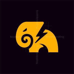 Energy Bolt Elephant Logo