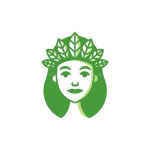 Goddess Of Plant Logo