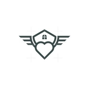 House Wing With Love Logo